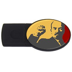 POWER WITH LENIN 1GB USB Flash Drive (Oval)