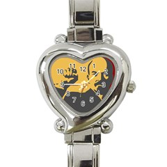 POWER WITH LENIN Heart Italian Charm Watch