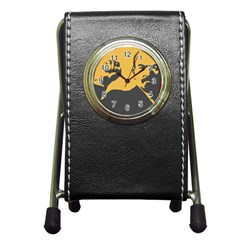 Power With Lenin Stationery Holder Clock