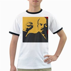 POWER WITH LENIN Mens' Ringer T-shirt