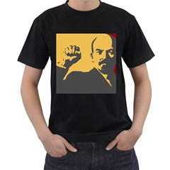 Power With Lenin Mens' Two Sided T Shirt (black)