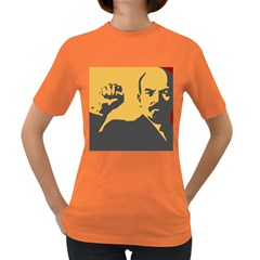 Power With Lenin Womens' T Shirt (colored)