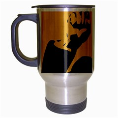 POWER WITH LENIN Travel Mug (Silver Gray)