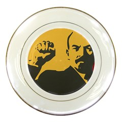 POWER WITH LENIN Porcelain Display Plate