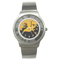 POWER WITH LENIN Stainless Steel Watch (Unisex)