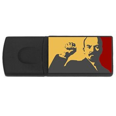 POWER WITH LENIN 4GB USB Flash Drive (Rectangle)