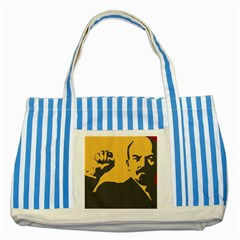 Power With Lenin Blue Striped Tote Bag