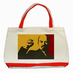 POWER WITH LENIN Classic Tote Bag (Red)