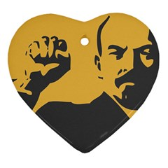 POWER WITH LENIN Heart Ornament (Two Sides)