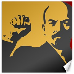 POWER WITH LENIN Canvas 12  x 12  (Unframed)