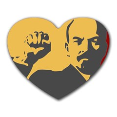 POWER WITH LENIN Mouse Pad (Heart)