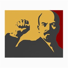 POWER WITH LENIN Glasses Cloth (Small, Two Sided)