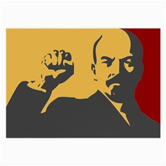 POWER WITH LENIN Glasses Cloth (Large, Two Sided)
