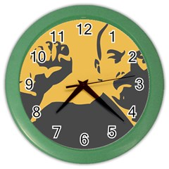 Power With Lenin Wall Clock (color)