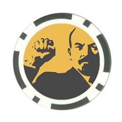 POWER WITH LENIN Poker Chip