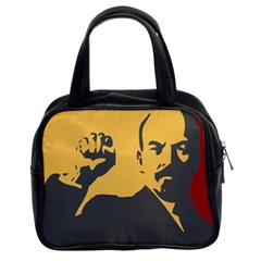 Power With Lenin Classic Handbag (two Sides)