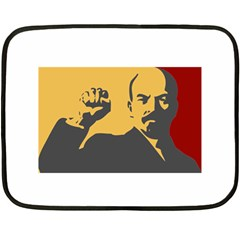 POWER WITH LENIN Mini Fleece Blanket (Two Sided)