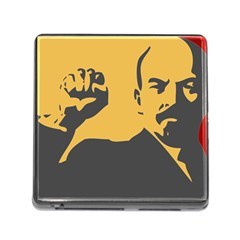 POWER WITH LENIN Memory Card Reader with Storage (Square)