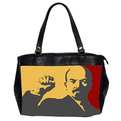 POWER WITH LENIN Oversize Office Handbag (Two Sides)