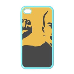 POWER WITH LENIN Apple iPhone 4 Case (Color)