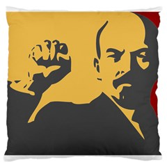 POWER WITH LENIN Large Cushion Case (Two Sided)