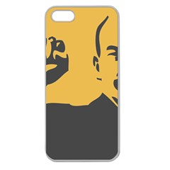 POWER WITH LENIN Apple Seamless iPhone 5 Case (Clear)