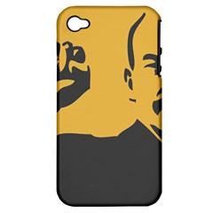 POWER WITH LENIN Apple iPhone 4/4S Hardshell Case (PC+Silicone)