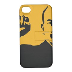 POWER WITH LENIN Apple iPhone 4/4S Hardshell Case with Stand