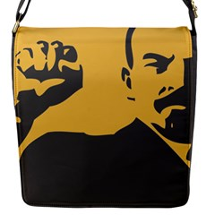 POWER WITH LENIN Flap closure messenger bag (Small)