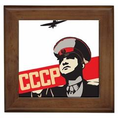 Soviet Red Army Framed Ceramic Tile