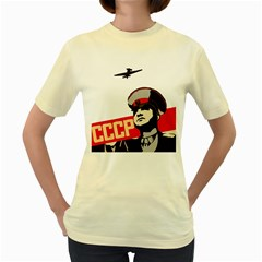 Soviet Red Army  Womens  T-shirt (Yellow)