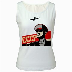 Soviet Red Army Womens  Tank Top (white)