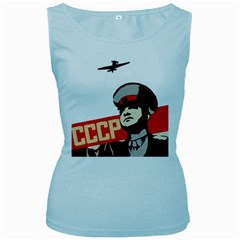 Soviet Red Army Womens  Tank Top (baby Blue)
