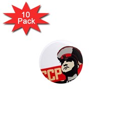 Soviet Red Army 1  Mini Button Magnet (10 pack)
