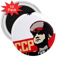 Soviet Red Army 3  Button Magnet (10 pack)