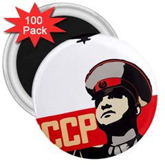 Soviet Red Army 3  Button Magnet (100 pack)