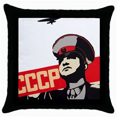 Soviet Red Army Black Throw Pillow Case