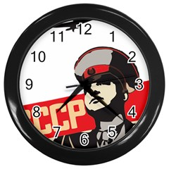 Soviet Red Army Wall Clock (Black)