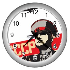 Soviet Red Army Wall Clock (Silver)