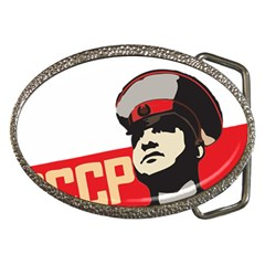 Soviet Red Army Belt Buckle (oval)