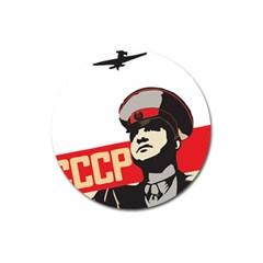 Soviet Red Army Magnet 3  (round)