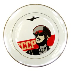 Soviet Red Army Porcelain Display Plate