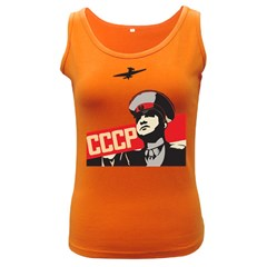 Soviet Red Army Womens  Tank Top (Dark Colored)