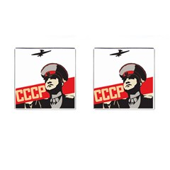 Soviet Red Army Cufflinks (Square)