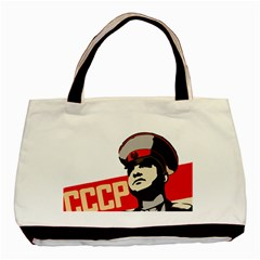 Soviet Red Army Twin-sided Black Tote Bag