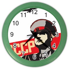 Soviet Red Army Wall Clock (color)