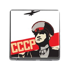 Soviet Red Army Memory Card Reader with Storage (Square)