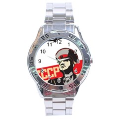 Soviet Red Army Stainless Steel Watch (Men s)