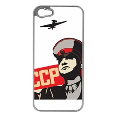 Soviet Red Army Apple iPhone 5 Case (Silver)