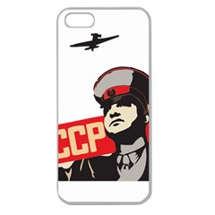 Soviet Red Army Apple Seamless iPhone 5 Case (Clear)